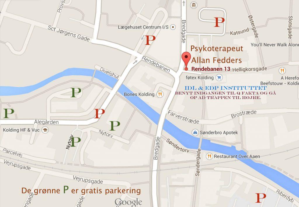 kort af parkering i Kolding